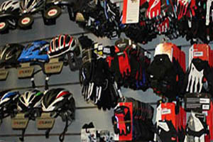 Helmets, gloves, shields, etc.. to rent
